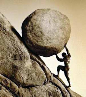 Sisyphus boulder pebble in show Xiamen Amoy Daily Noodles