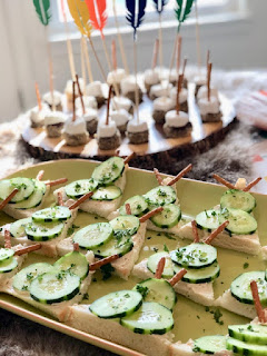 Tee Pee sandwiches, Indian Tribal baby shower