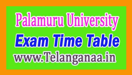 Palamuru University Degree 1st year 1st sem. Examination Time Table 2017