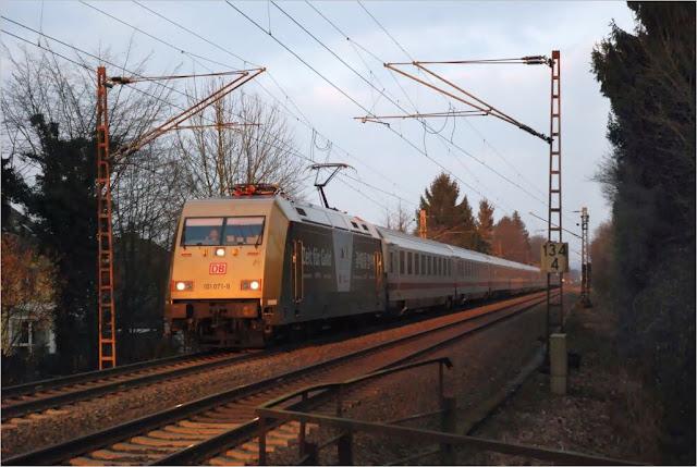 """DB 101 071-9 """"Zeit für Gold"""" IC 2229 Kieler Bucht"""
