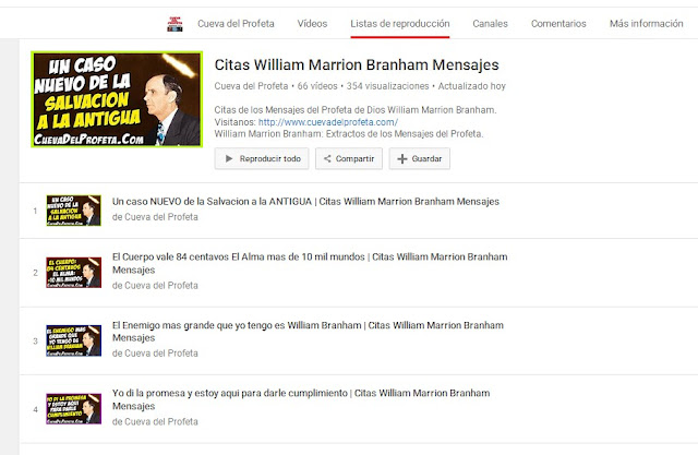 Citas William Marrion Branham Youtube