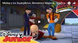 Goofy y la reina de Inglaterra en Mickey y los Superpilotos