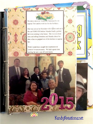 Create a starter page with a picture of your famiy at the beginning of the year. It's fun to compare it year after year and see how the family changes.