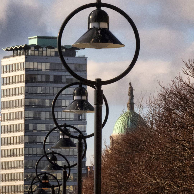 A day out in Dublin: Liberty Hall and the lamps along the Liffey