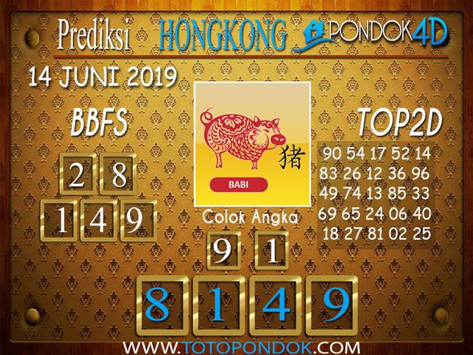 Prediksi Togel HONGKONG PONDOK4D 14 JUNI 2019