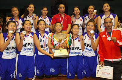 first south asian women's basketball champion nepal vs sri lanka