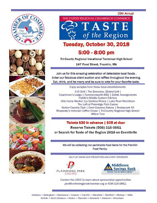 29th Annual - Taste of the Region - Oct 28