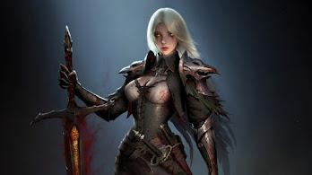 Fantasy, Girl, Warrior, Sword, 4K, #4.3071