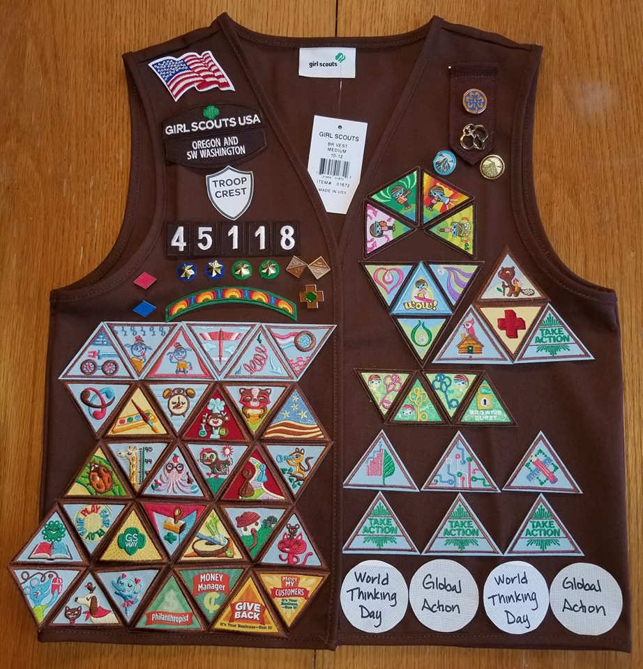 Brownie Girl Scout Badge Placement