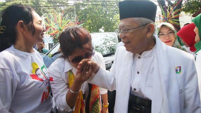 Ma'ruf Amin Merasa Dukungan Perempuan untuk Jokowi Kurang