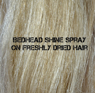 Bedhead - headrush - review - swatch - hair products - shine spray - finishing products - TIGI