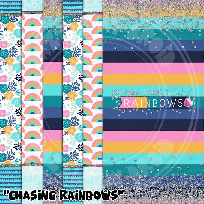 "New Freebie wall set ""Chasing Rainbows"""