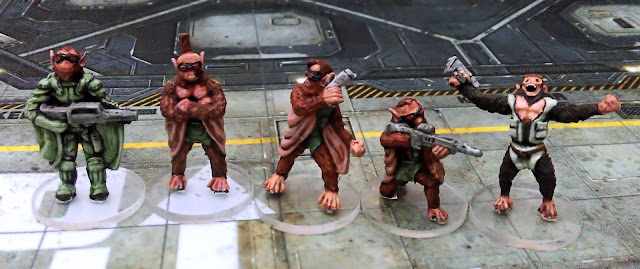Rogue Stars Ucrian Harbingers Bio-engineered Simian squad
