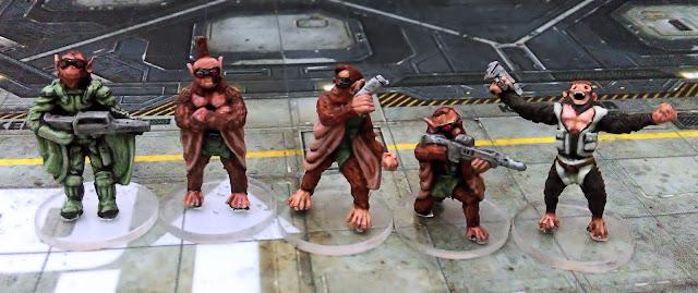 Rogue Stars Ucrian Harbingers Bio-engineered Simian squad