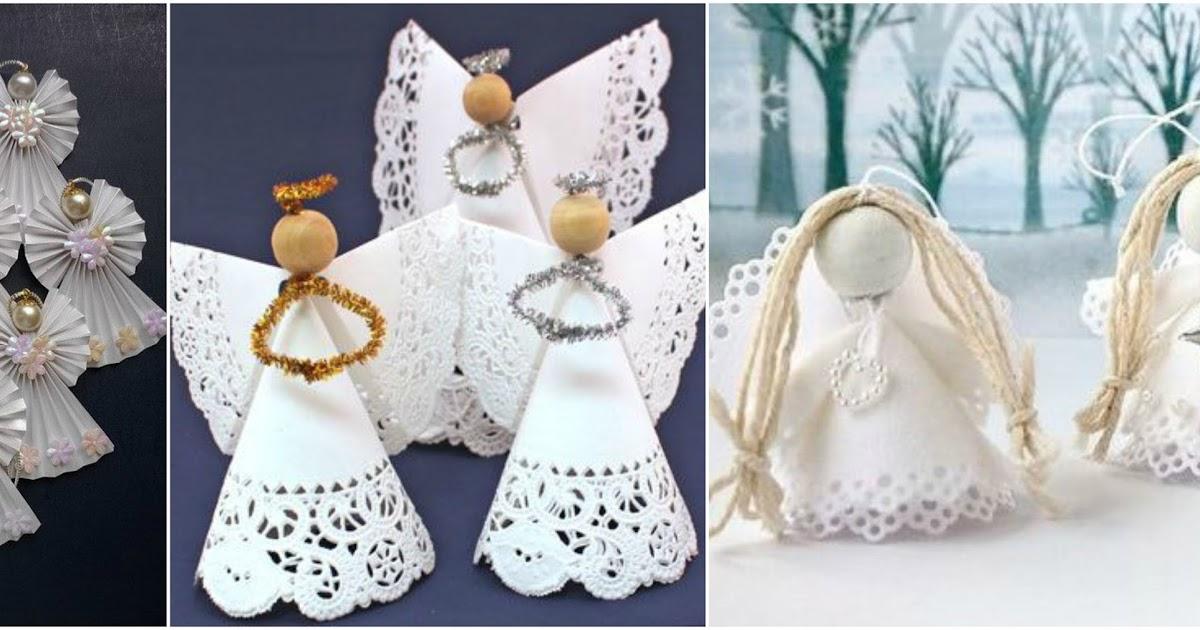 4 ideas para hacer angelitos con blondas de papel lodijoella - Blondas de papel ...