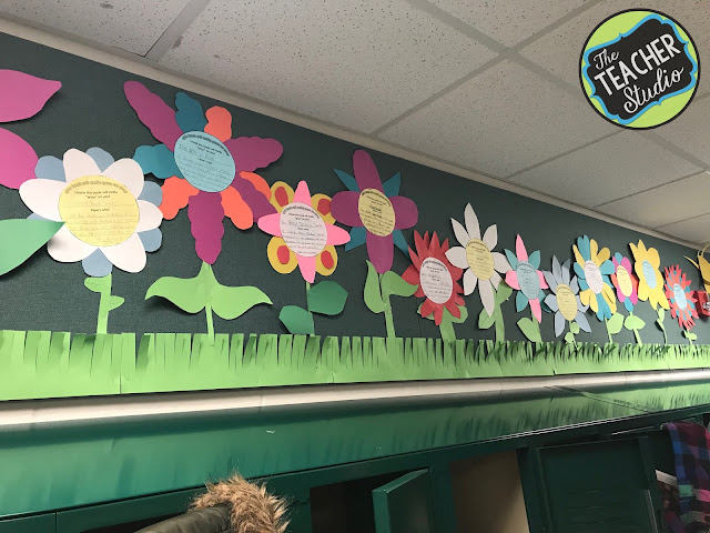 Creating a spring bulletin board can be fun--but when you can practice writing, stating opinions, and revising--it's a great use of time!  This book review bulletin project is perfect for spring!  Let students get creative!