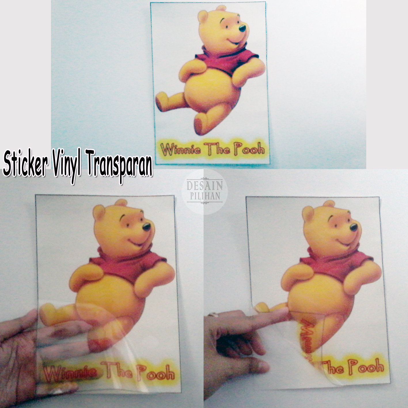 contoh sticker vinyl transparan, jual sticker vinyl transparan