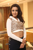 Catherine Tresa in a White Glittering Crop Top Black Leggings  Exclusive 034.JPG