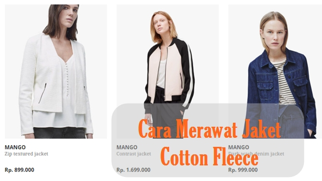 Cara Merawat Jaket Cotton Fleece