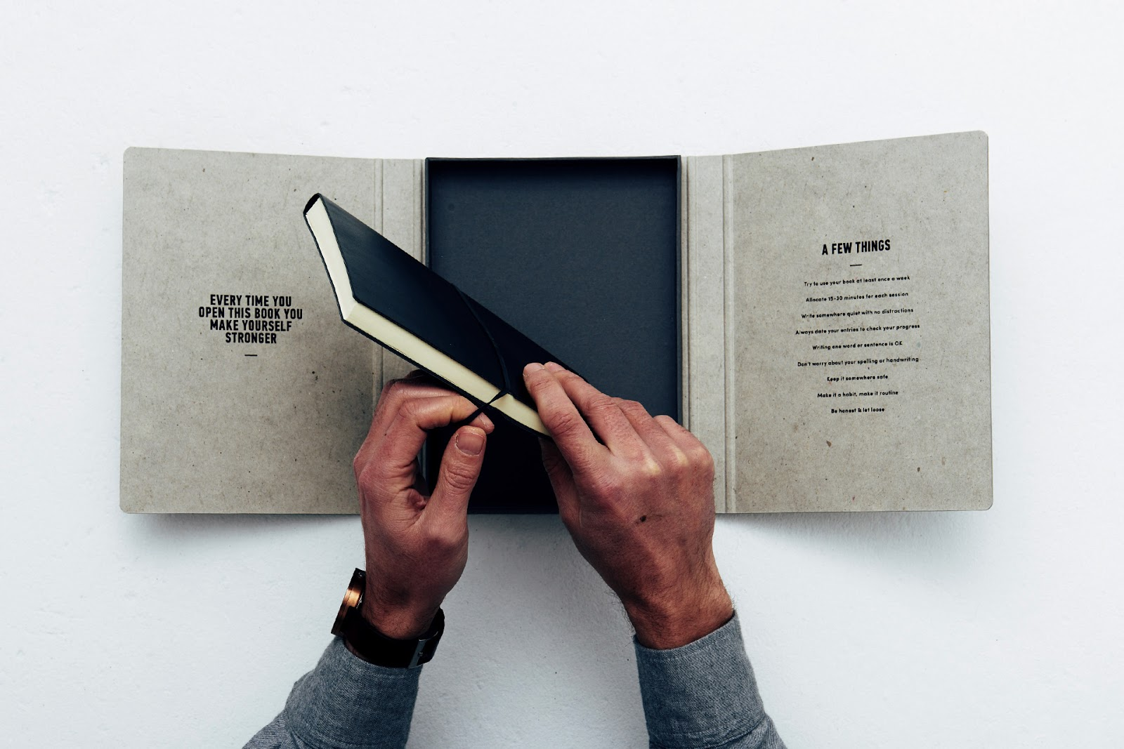 lifestyle blog about menswear and travel looks at the mind journal product