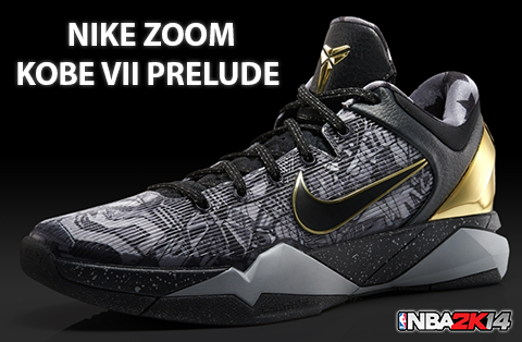 40d819e0aebc NBA 2K14 Nike Kobe VII Prelude Shoes Patch