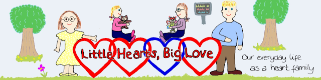 Little hearts, big love banner