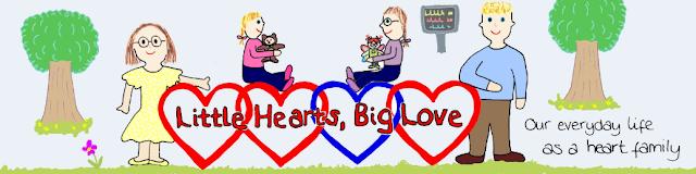 Little hearts, big love banner