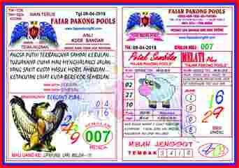 Kode Syair Fajar Pakong Pools 08 April 2018