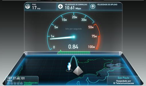 Como saber se o meu provedor me fornece a velocidade da internet contratada