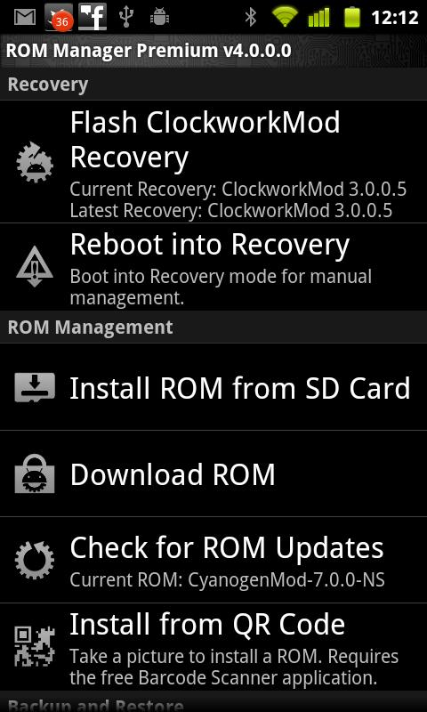 android app: ROM Manager Premium v4 3 2 4 (4 3 2 4) Android Apk App