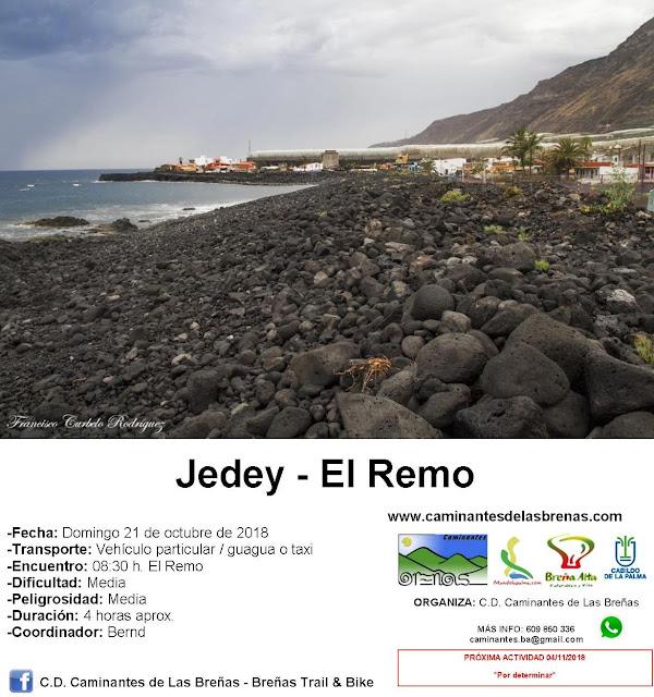 Caminantes de Las Breñas, domingo 21 de Octubre: Jedey - El Remo