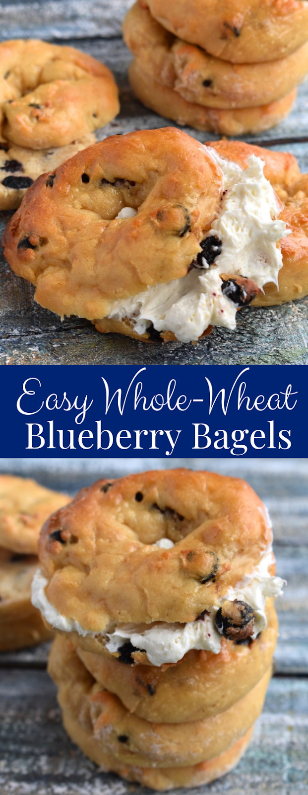 Easy Whole-Wheat Blueberry Bagels