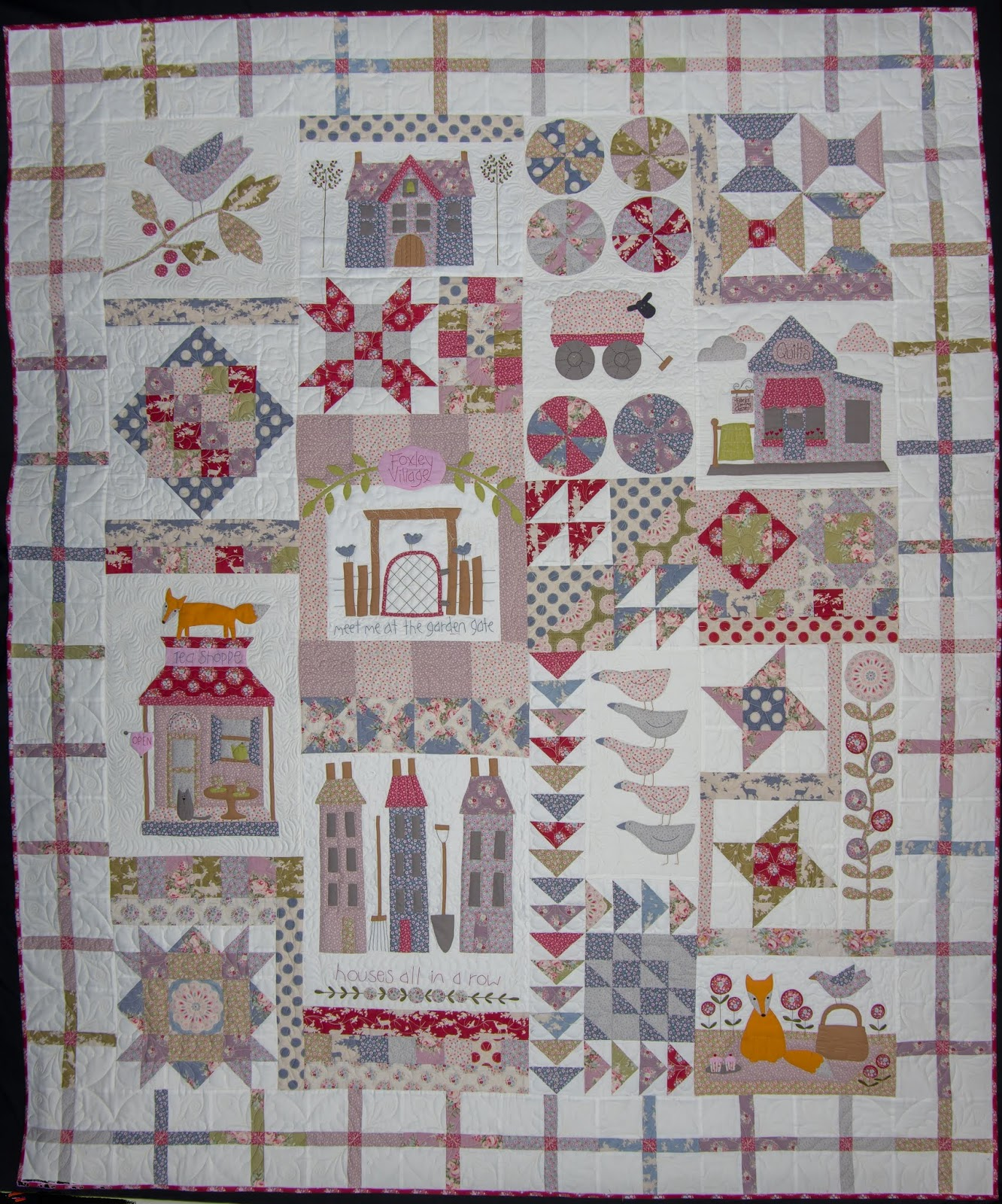 Time To Stitch Foxley Village Finished