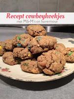 Recept cowboykoekjes - met MMs en havermout