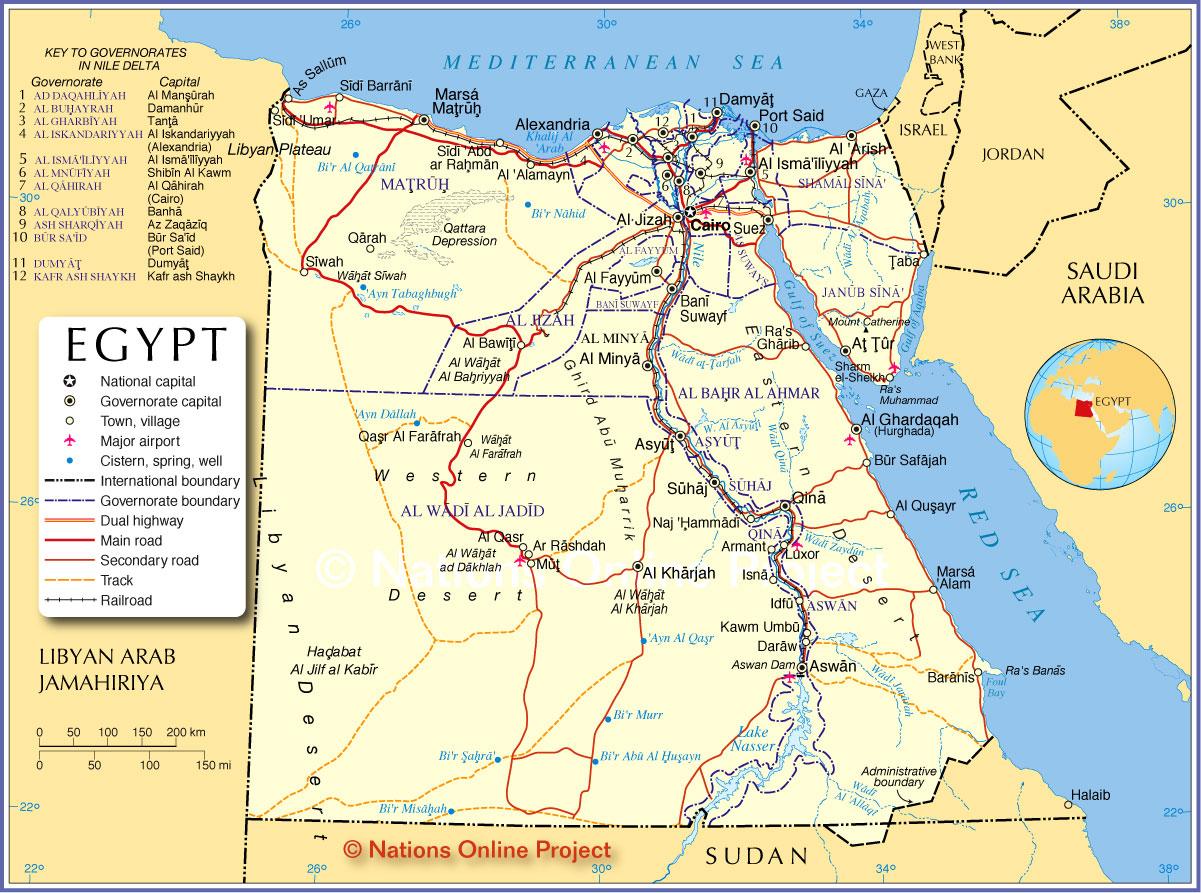 Egypt Map Car Radio Gps