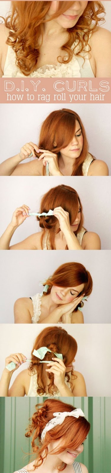 7.D.I.Y. CURLS HOW TO RAG ROLL YOUR HAIR