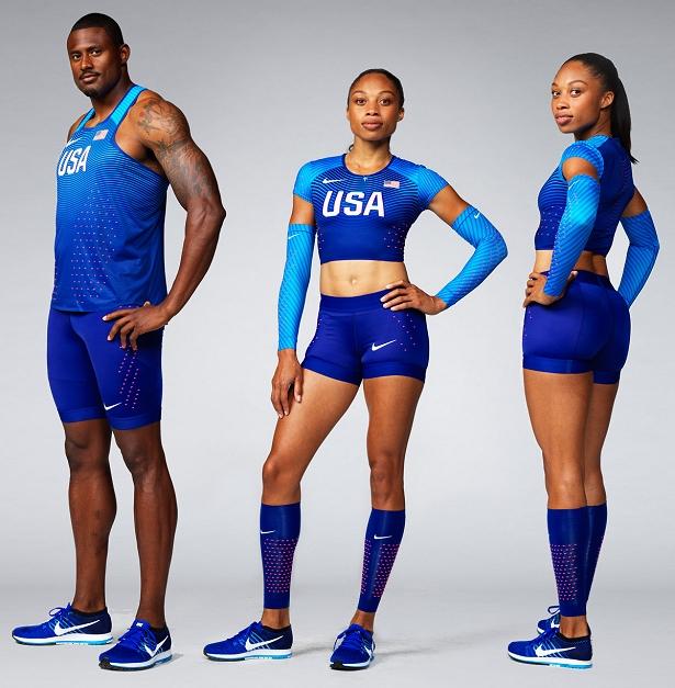 Nike lança uniformes de atletismo dos Estados Unidos para Rio 2016 ... 4b53d20a52464