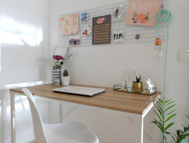 Mi nuevo espacio de trabajo en el pasillo de casa