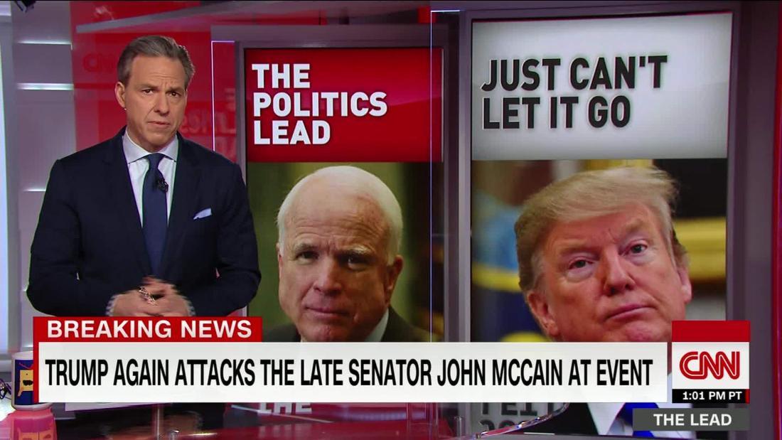 Trump re-attacked late Republican Senator John McCain as