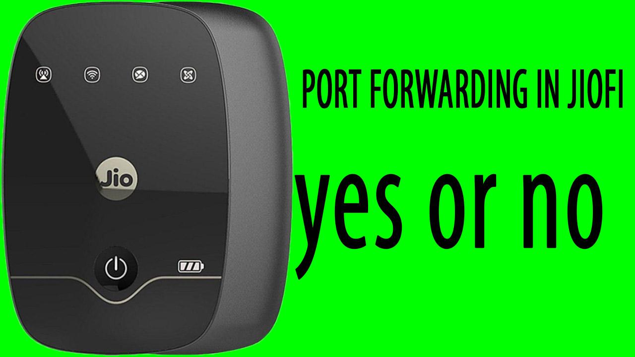PORT FORWARDING IN JIOFI || jio router port forwarding