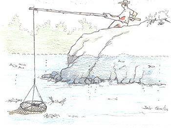 Pesca com jererê. Autor: Jair Santos, 2004.