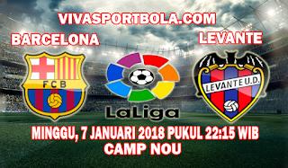 Prediksi Barcelona vs Levante 7 Januari 2018