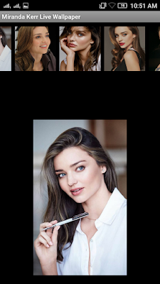 Miranda Kerr 3D live Wallpaper For Android Mobile Phone