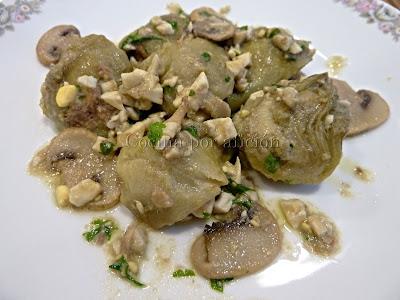 Alcachofas a la Cavour