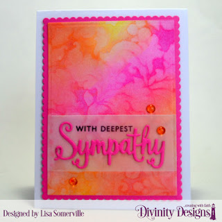 Stamp/Die Duos: Sympathy  Custom Dies: Scalloped Rectangles, Rectangles  Mixed Media Stencil: Flourishes
