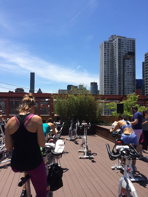 MyBestBadi: Rooftop Spin Class at Equinox with Inspiralized!