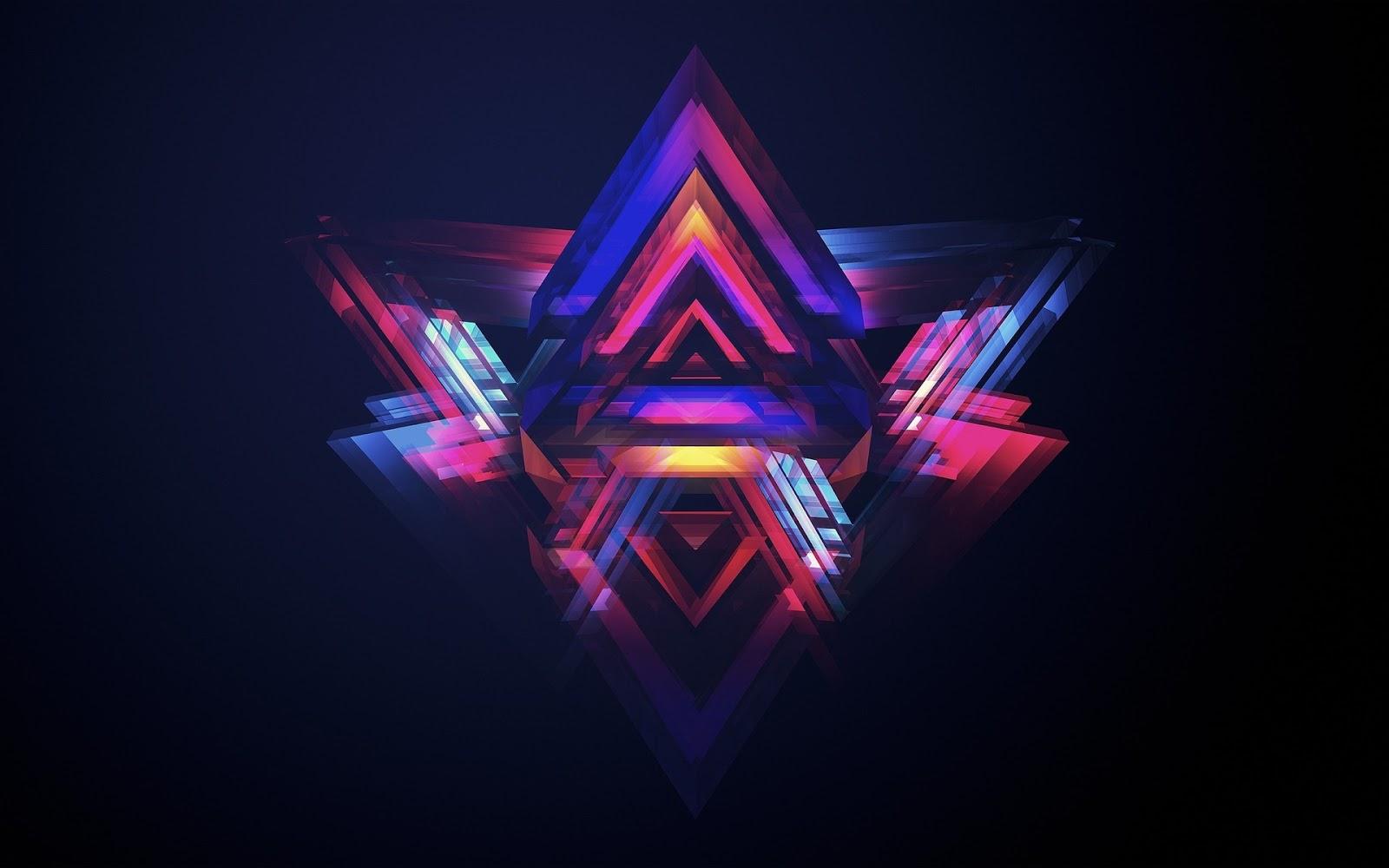 Neon HD Wallpaper Free Download - Neon Pyramids