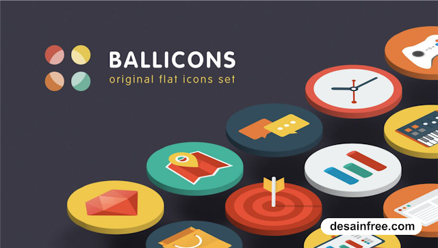 Download Kumpulan Flat Icon Lengkap PSD - desainfree.com