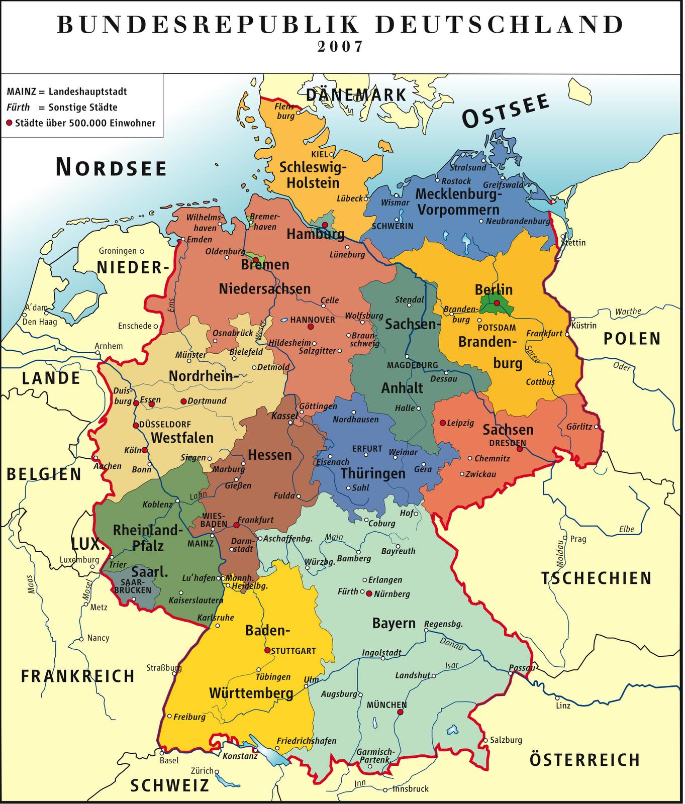 Ciudades Más Importantes De Alemania Mapa