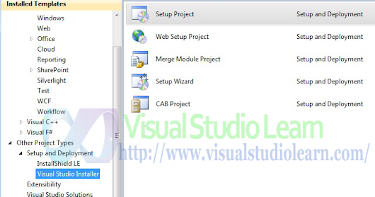 Create Setup File in Visual Studio 2010